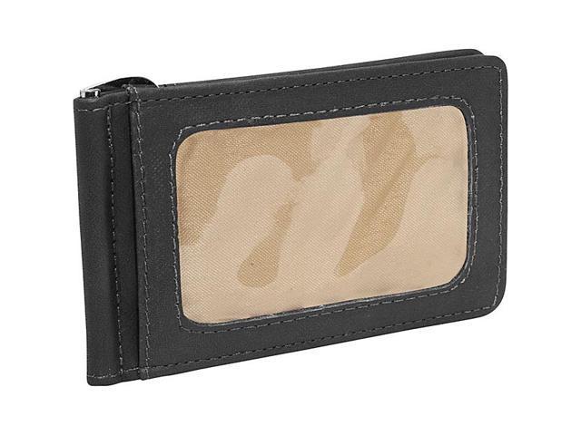 Piel Leather Bi-Fold Money Clip W/Id Window, Black - 2633-BLK