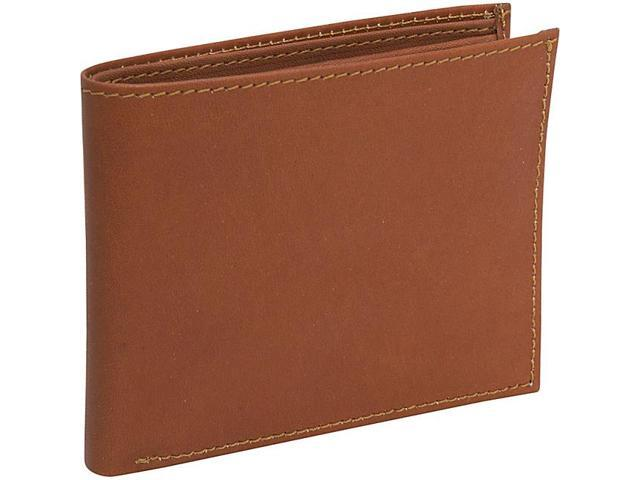 Piel Leather Bi-Fold Wallet, Saddle - 9052