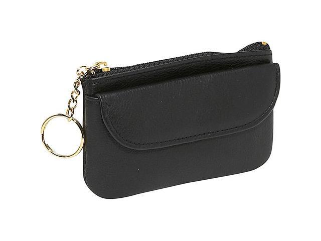 Budd Leather Zippered Coin Purse With Key Ring