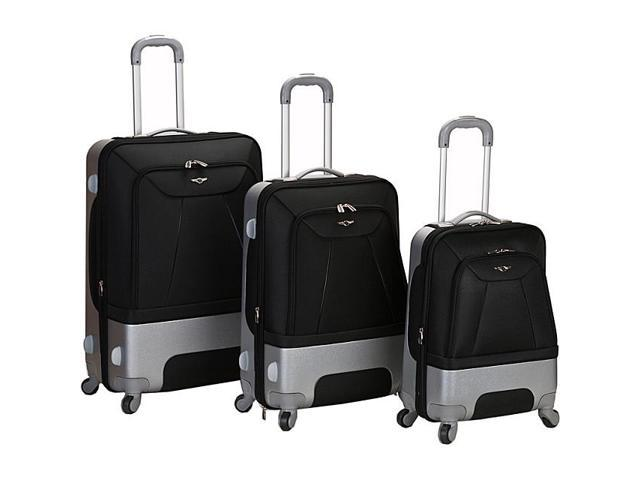 Rockland Luggage 3 Piece Rome Hybrid Luggage Set