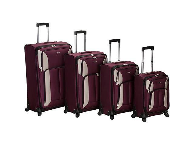 Rockland Luggage 4 Piece Quad Spinner Luggage Set