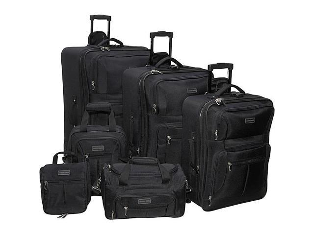 Geoffrey Beene Luggage 6 Piece Ebony Luggage Set