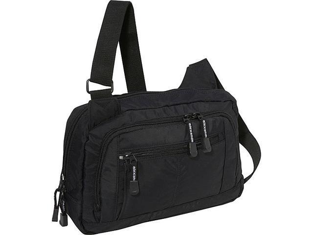 Derek Alexander 3 Zip Shoulder Bag
