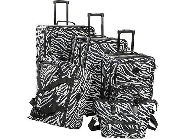 American Flyer Animal Print 5-Piece Luggage Set