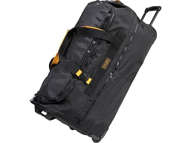 A. Saks 31in. Expandable Rolling Trolley Duffel