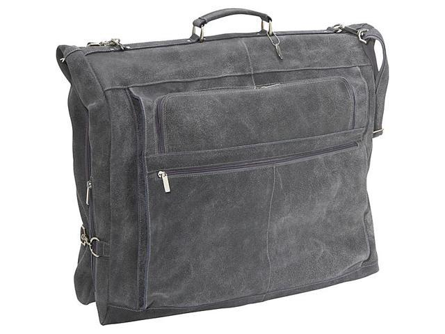 David King & Co. Distressed Leather 42in. Garment Bag