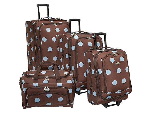 American Flyer Grande Dots 4-Piece Luggage Set