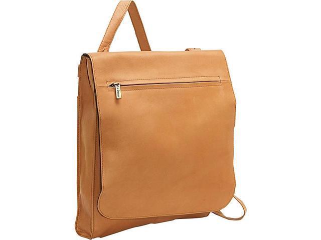 Le Donne Leather Organizer Shoulder Bag/Back Pack