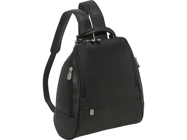 Le Donne Leather U Zip Mid Size Backpack/Purse