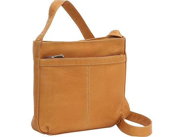 Le Donne Leather Shoulder Bag w/Exterior Zip Pocket