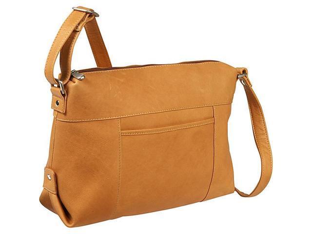 Le Donne Leather Top Zip Front Slip Shoulder Bag