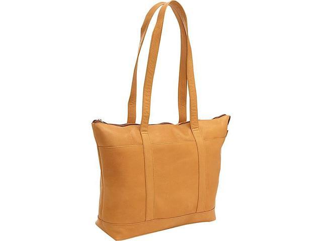Le Donne Leather Double Strap Med Pocket Tote