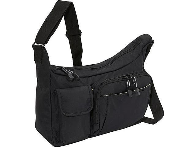 Derek Alexander PW20224 E/W Top Zip Shoulder Bag - Black