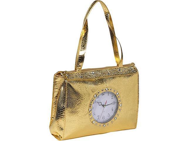 Ashley M Metallic Tick Tock Tote Bag