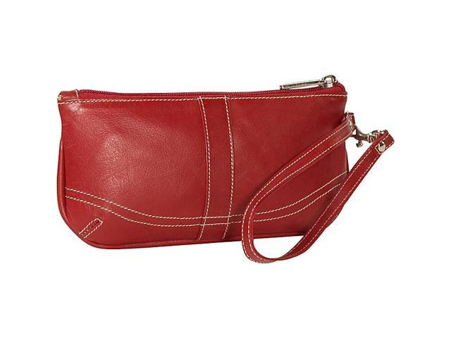 Piel Leather Large Ladies Wristlet, Red - 2768-RD