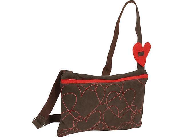 Miquelrius Agatha Ruiz De La Prada Hearts Suede Med Handbag