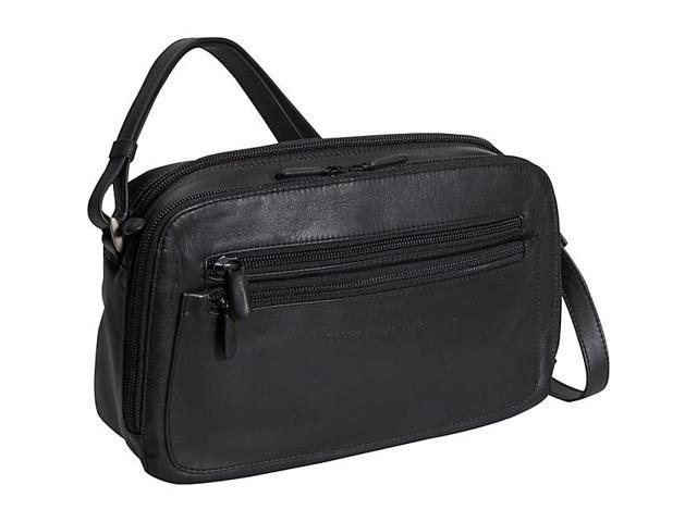 Derek Alexander Double Zip Organizer Handbag