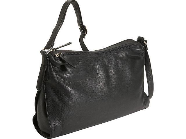 Derek Alexander Double Top Zip Shoulder Bag