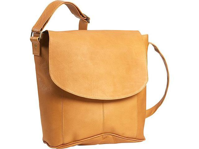 David King & Co 188T Vertical Simple Messenger- Tan