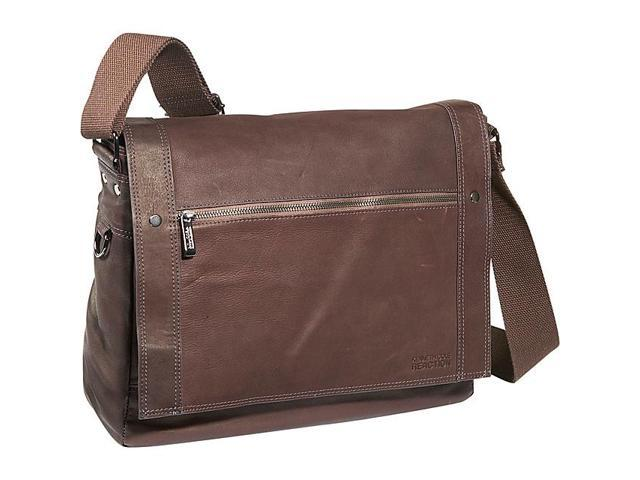 Kenneth Cole Reaction Busi-Mess Essentials, Colombian Leather Messenger Bag