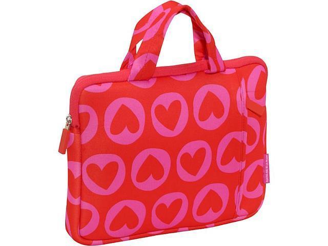Miquelrius Agatha Laptop Case w/handles 10in. Heart Pins