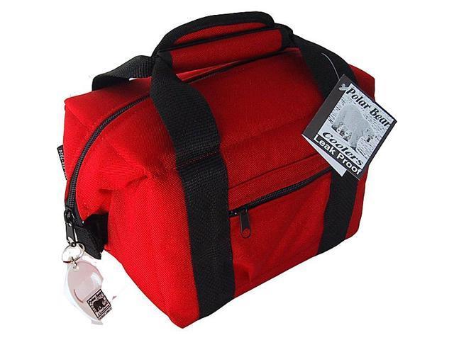 Polar Bear Coolers 6 Pack Soft Side Cooler - Red