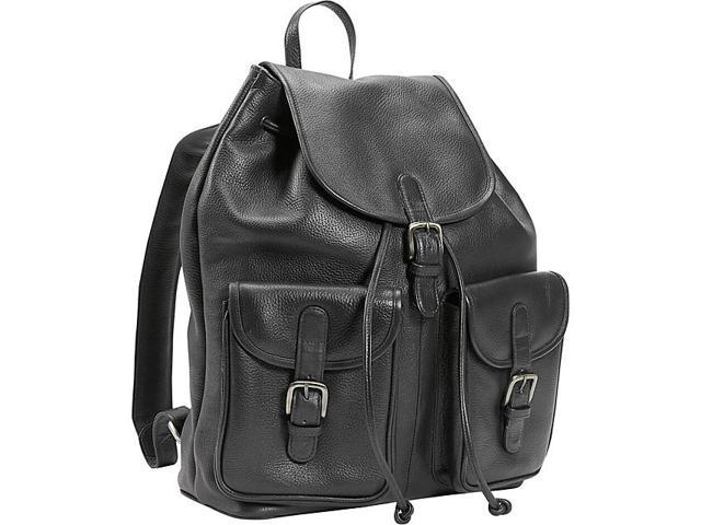 Leatherbay Leather Backpack w/Two Pockets