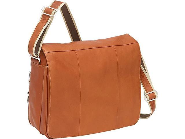 Piel Expandable Laptop Messenger Bag