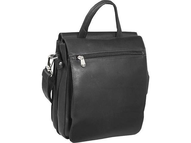 Piel Double Flap-Over Shoulder Bag
