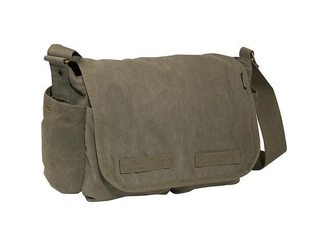 Everest Large Cotton Canvas Messenger Bag
