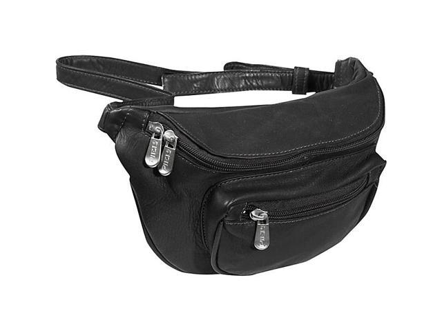 Piel 8825-BLK Leather Fanny Pack - Black