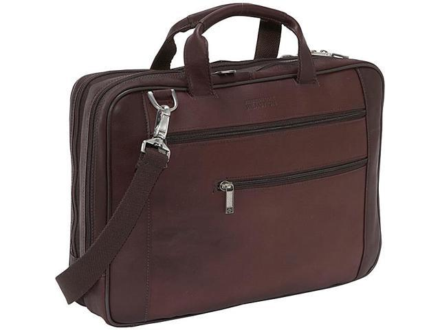 Kenneth Cole Reaction Double Play Colombian Leather Laptop Portfolio