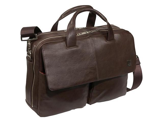 Knomo Warwick 15in. Leather Laptop Briefcase