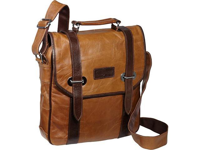 AmeriLeather Granger Two-tone Messenger Bag