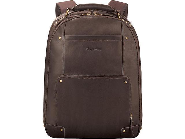 Laptop Backpack Leather Padded Straps 13