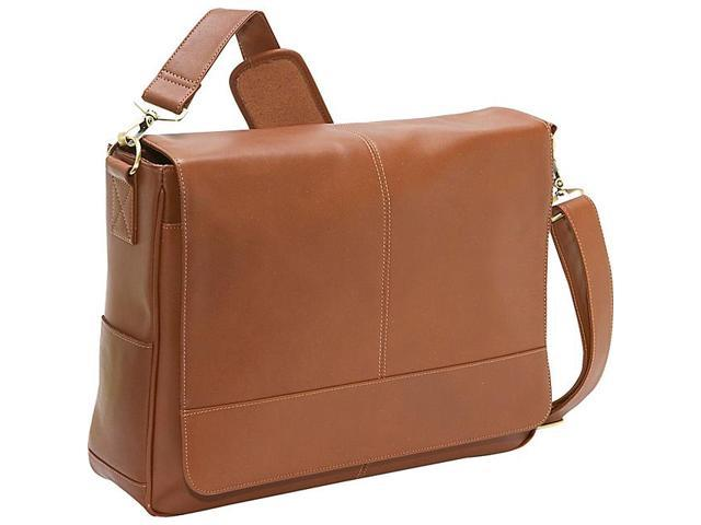 Royce Leather Nappa Leather Messenger Bag