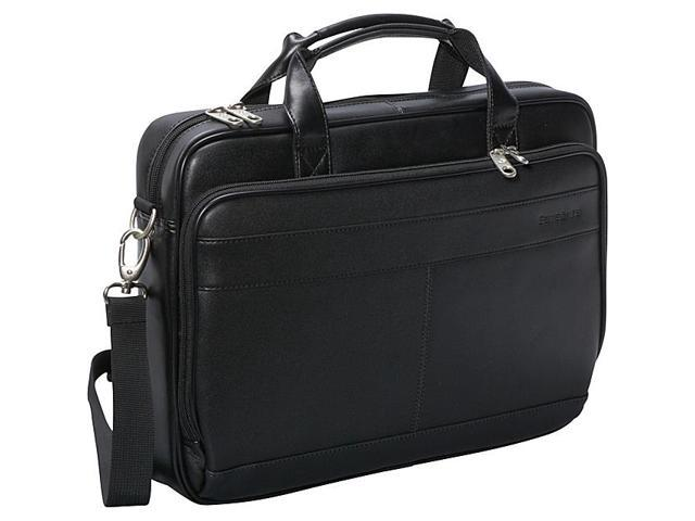 Leather Slim Brief 15 3/4 x 2 1/2 x 11 3/4 Black