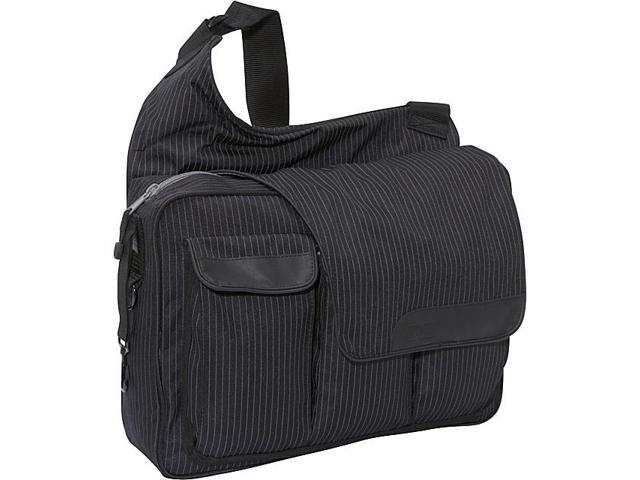 Diaper Dude Black Pinstripe Messenger II bag