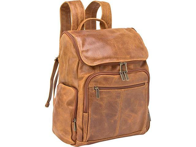 Le Donne Leather Distressed Leather Computer Backpack