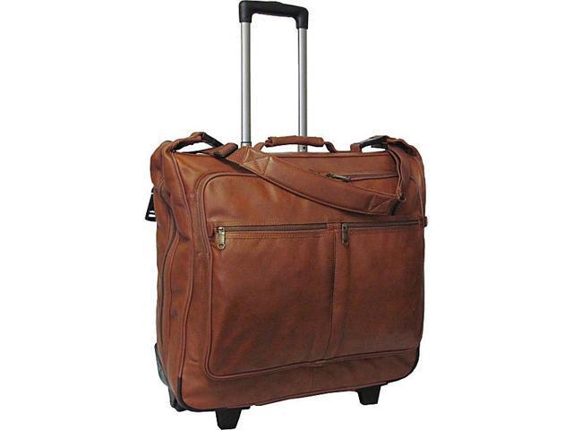 Wheeled Leather Garment Bag (#2482-02)