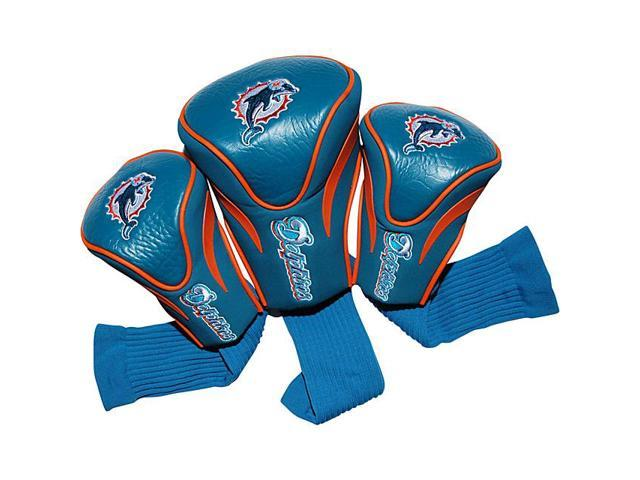 Team Golf 31594 Miami Dolphins 3 Pack Contour Fit Headcover