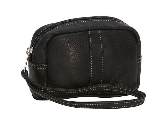 Piel Leather Cosmetic Case, Black - 2590-BLK