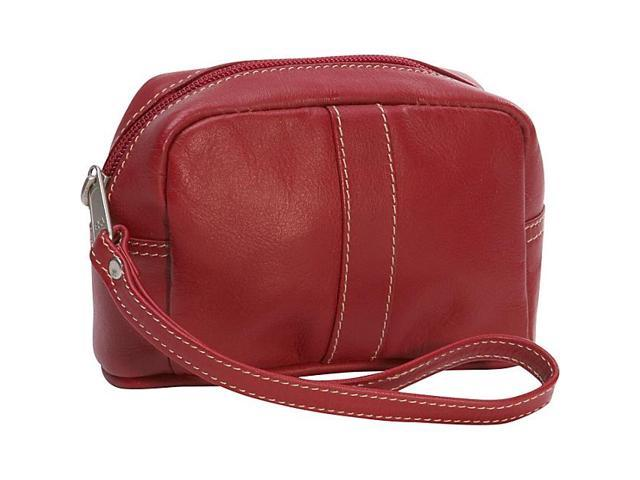 Piel Leather Cosmetic Case, Red - 2590-RD