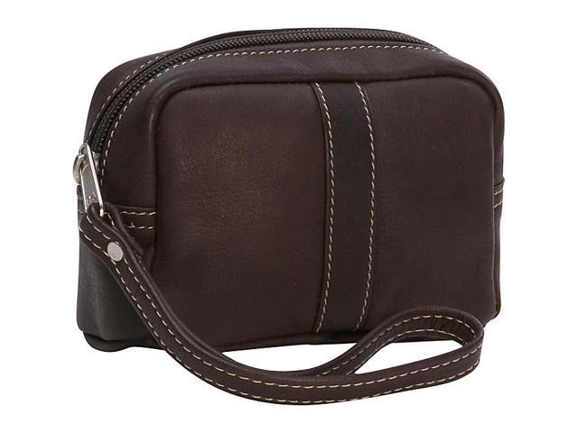 Piel Leather Cosmetic Case, Chocolate - 2590-CHC