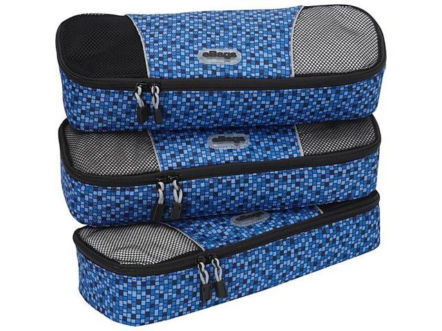 eBags Slim Packing Cubes - 3pc Set - Geometric