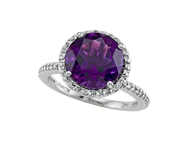 Genuine Amethyst Ring by Effy Collection in 14 kt Yellow Gold Size 4