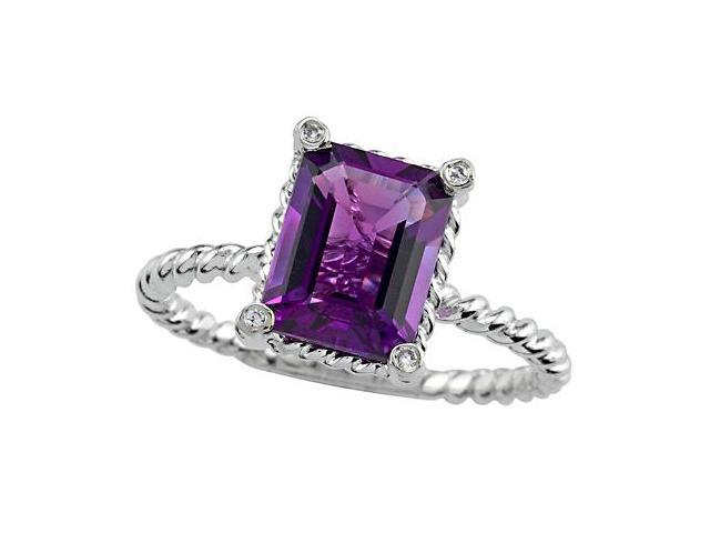 Genuine Amethyst Ring by Effy Collection in 14 kt Yellow Gold Size 6.5