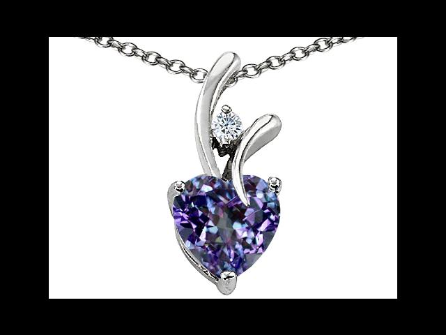 Star K 1.95 cttw Heart Shaped 8mm Created Alexandrite Pendant