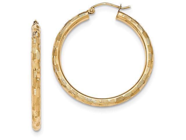 14k textured hoop earrings in 14 kt yellow gold newegg