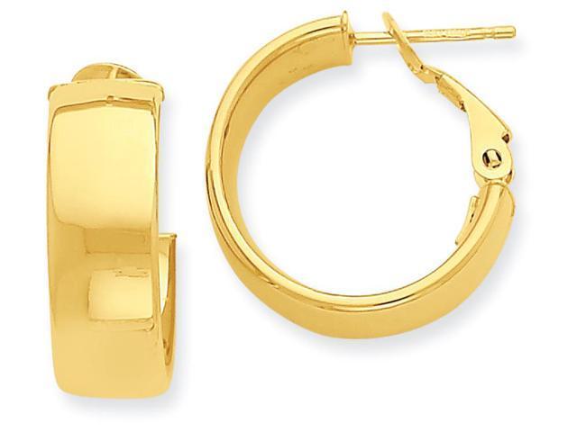 14k hoop earrings in 14 kt yellow gold newegg